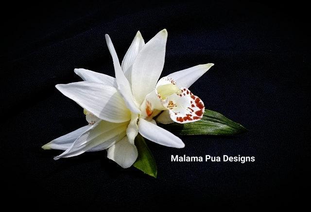 Wedding - Tropical Hair Clip, Hair Accessory, Flower clip, Orchids, Wedding flower, Silk flower, Bridal Headpiece, Beach Accessory, Tropical flowers