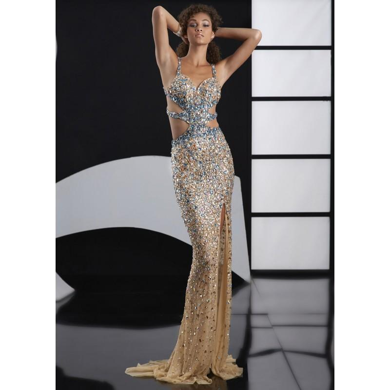 5fc88cbb1c Jasz Couture 4109D Sparkly Illusion Gown - 2017 Spring Trends Dresses