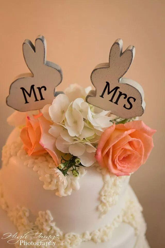 Mr And Mrs Love Bunnies Bunny Rabbit Cake Topper Custom Party Favor Shower Favors Wedding Home Decor Spring Decor