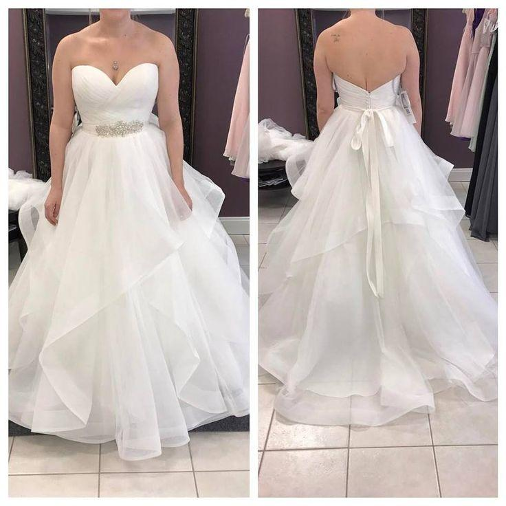 Mariage - Strapless Sweetheart Neck Ivory Organza Wedding Dress With Sash,apd2274