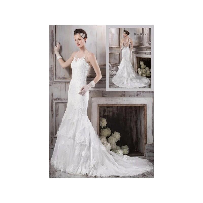 Wedding - Vestido de novia de Manu García Modelo MG0705 - 2016 Sirena Otros Vestido - Tienda nupcial con estilo del cordón