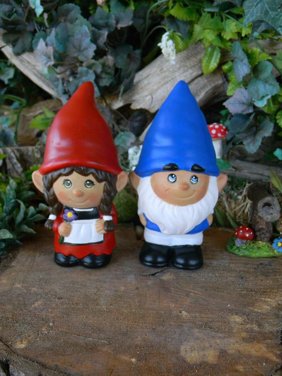The Gnomelyweds Wedding Gnomes Custom Painted Gnomeo And His Juliet