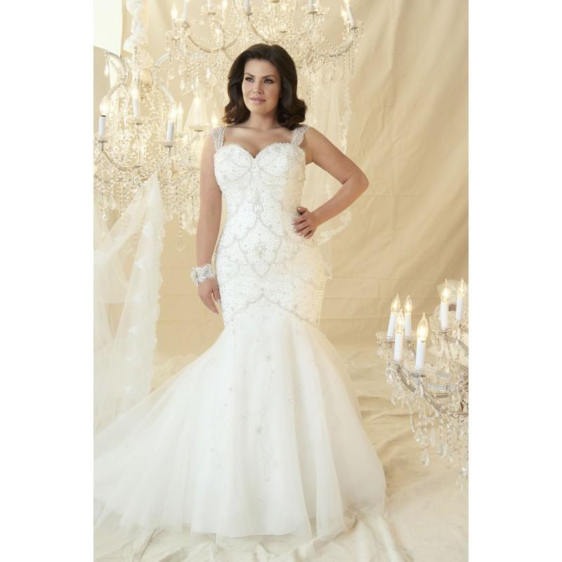 Plus Size Dresses Andre By Callista Ivory White Tulle Floor