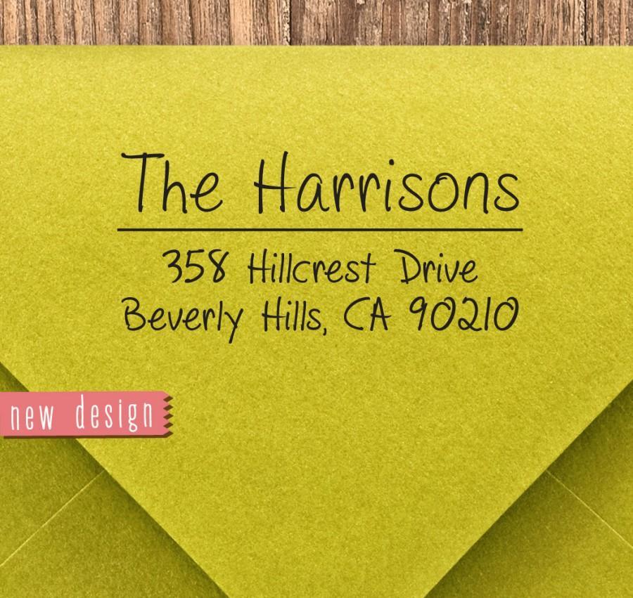 Hochzeit - CUSTOM pre inked address STAMP from USA, custom address stamp, pre inked custom address stamp, return address stamp with proof - Stamp b5-35
