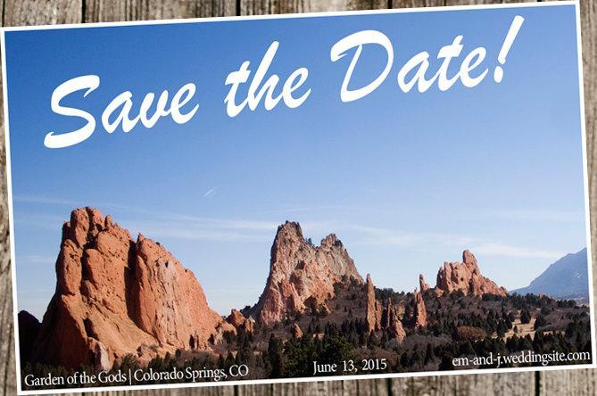 زفاف - Save The Dates -  Destination Wedding- postcard style