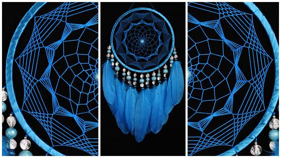زفاف - Blue Dreamcatcher Decor boho Dream Catcher azure Dreamcatcher Dream сatcher dreamcatchers sky blue dreamcatchers skiey decor handmade gift