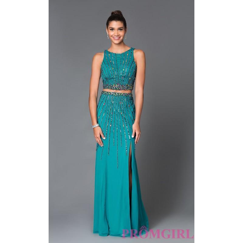 Свадьба - Long Chiffon Two Piece High Neck Sean Prom Dress SN-50909 - Discount Evening Dresses