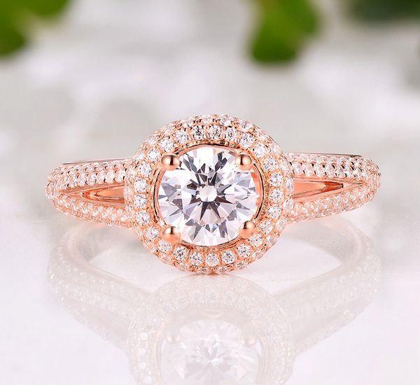 Свадьба - Engagement Ring / Semi Mount Ring / 14K White Gold Round 5.5MM Diamond Ring