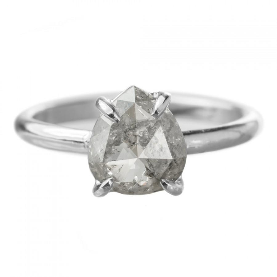 Свадьба - 1.48 Carat Grey Diamond Engagement Ring