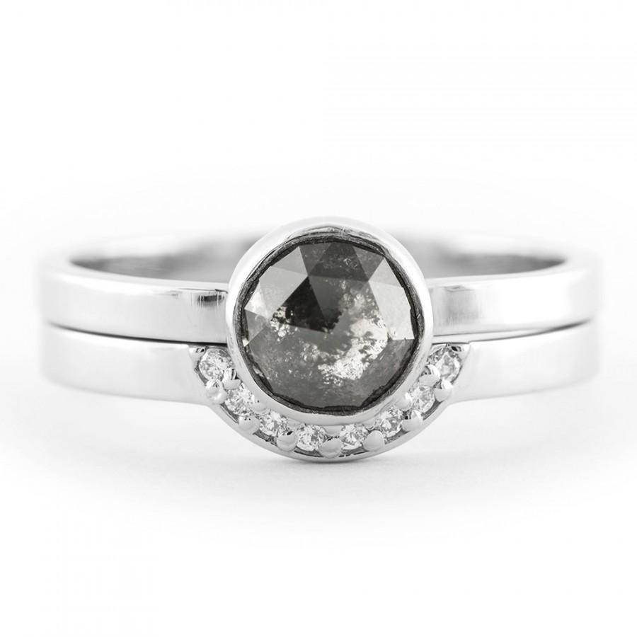 Свадьба - 1.36 Carat Black Diamond Engagement Ring