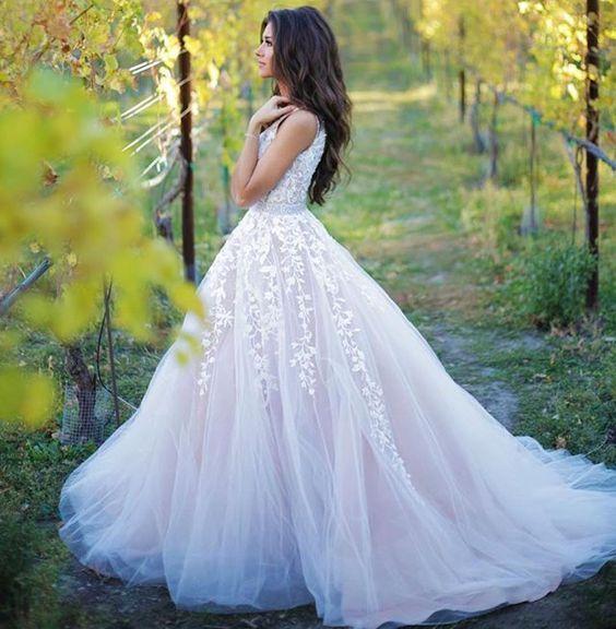 زفاف - Applique Prom Dress,Tulle Prom Dres