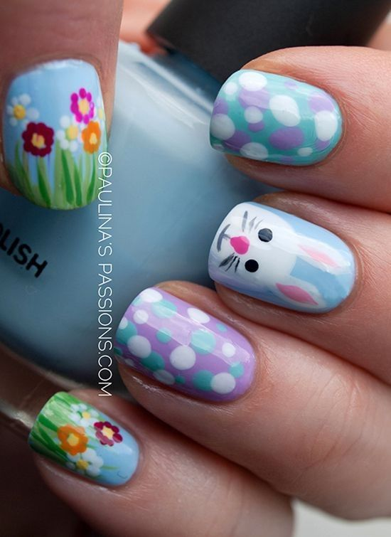 Wedding - Top 30 Cool Nail Art Design Ideas For 2015 Easter Day - Fashion Blog