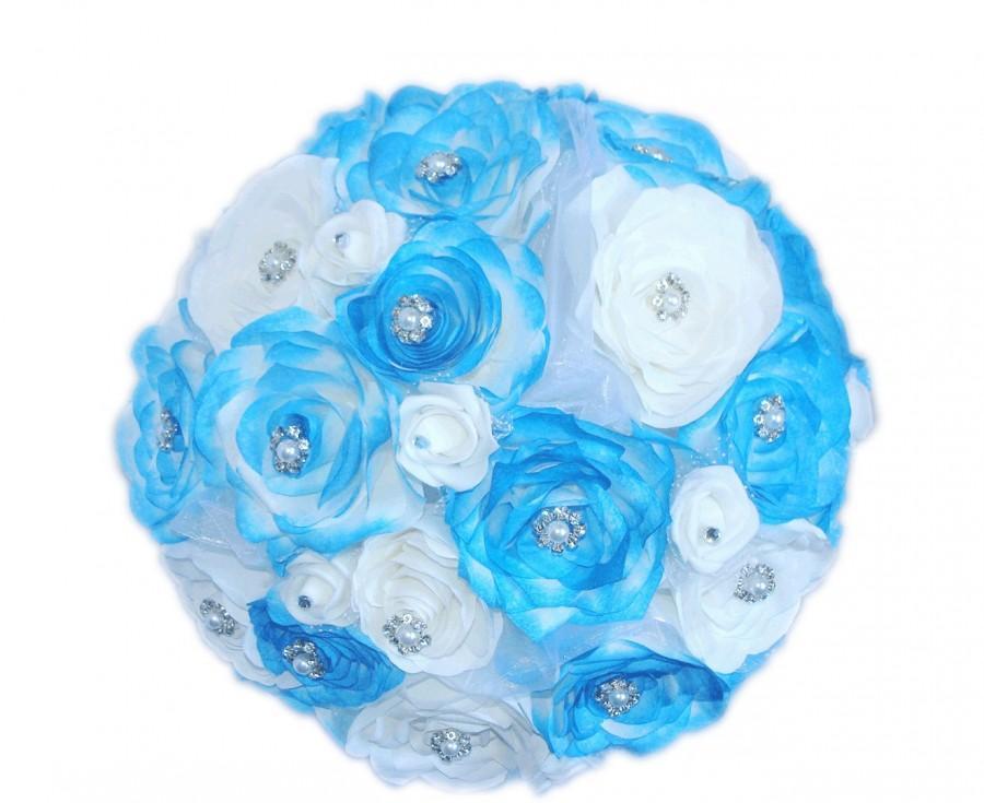 Hochzeit - Alternative wedding bouquet, Brooch bouquet, Keepsake bouquet, Royal blue bouquet, Bridal bouquet, Brooch bouquet, Wedding bouquet