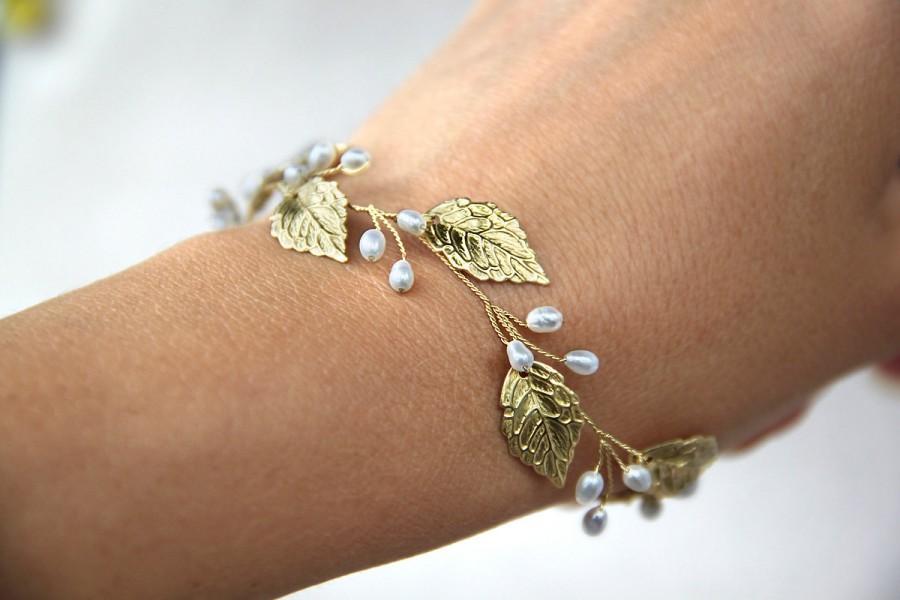 Mariage - Leaf bracelet Rose gold leaf bracelet Silver leaf bracelet Gold bracelet Gold Leaf Jewelry Fall Leaf Jewelry Bridal bracelet Silver bracelet