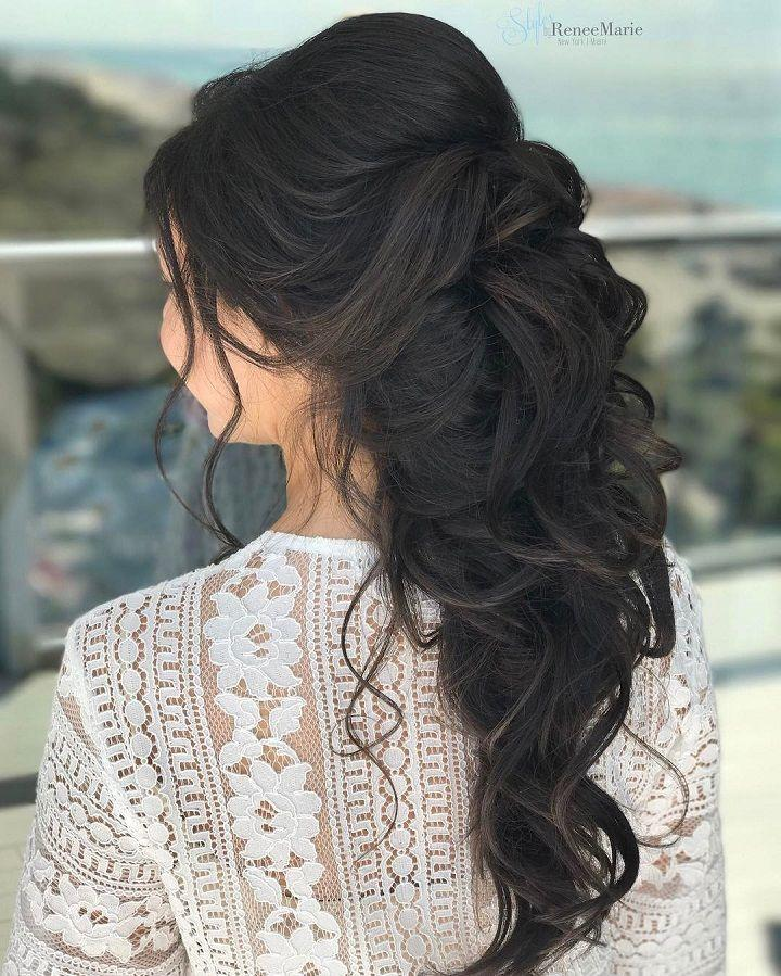 Half Up Half Down Wedding Hairstyle Get Inspired By Fabulous Wedding