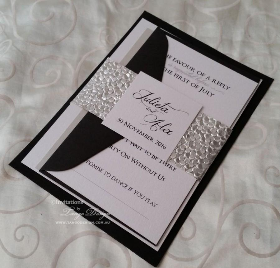 Modern Wedding Invitation Suite Bundle Invitation Set W
