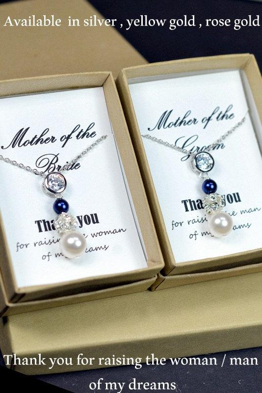 2 Necklaces 2 Pearl Necklaces Mother Of The Groom Gift