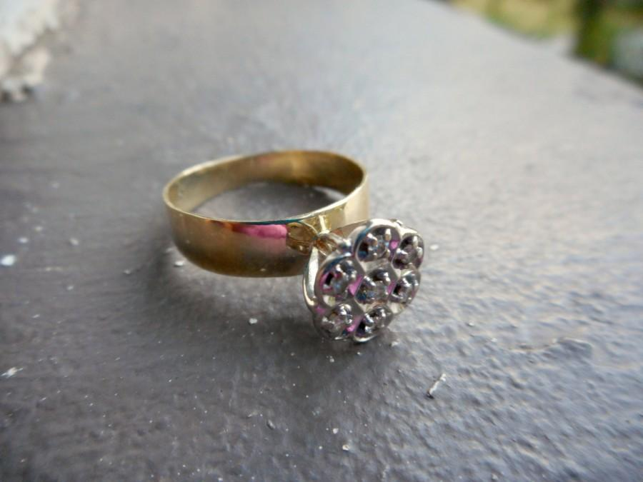 15 % f In April Vintage Diamond Cluster Engagement Ring