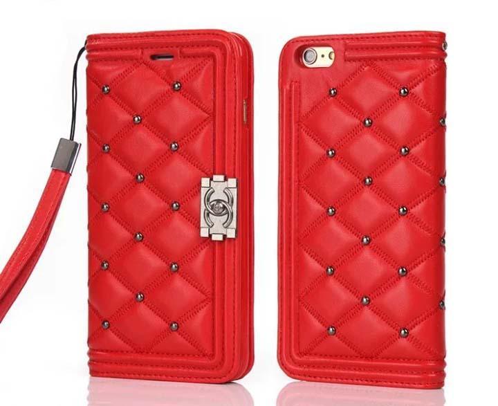 Mariage - シャネル iPhone 8/7 plus 鏡 ケース ブランドchanel iphone6s キルティング カバー リベット付き 高品質 女性愛用 送料無料_シャネルCHANEL