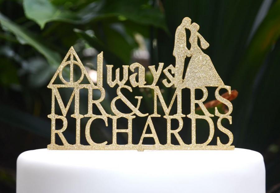 SALE! Wedding Engagement Cake Topper Mr & Mrs Custom