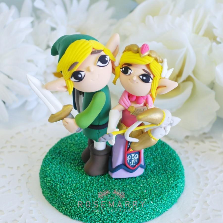 Mariage - Custom Cake Topper - Link & Zelda