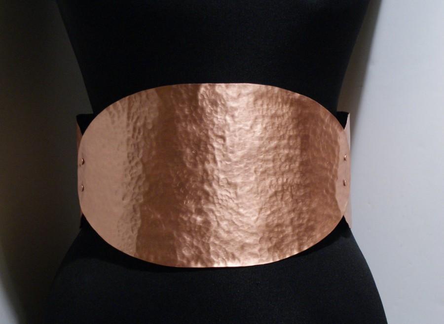 Mariage - metal belt-copper belt-corset belt - all metal belt-big belt - thick belt - metal corset belt -adjustable-metalwork belt - wide metal belt - $132.00 USD
