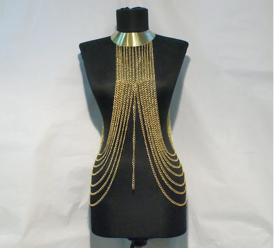 Mariage - body chain- body chain necklace- gold body chain - chain necklace -body chain gold - body chain jewelry - $86.00 USD