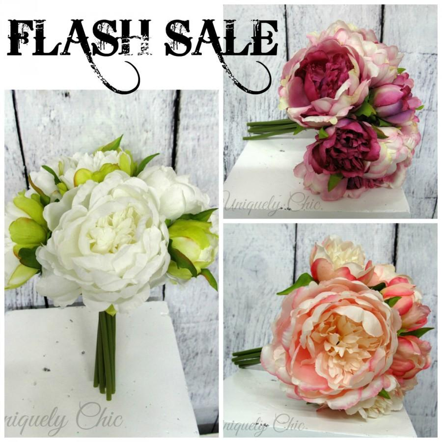 Mariage - FLASH SALE - Wedding bouquet, Peony Wedding bouquet, Bridesmaid bouquets