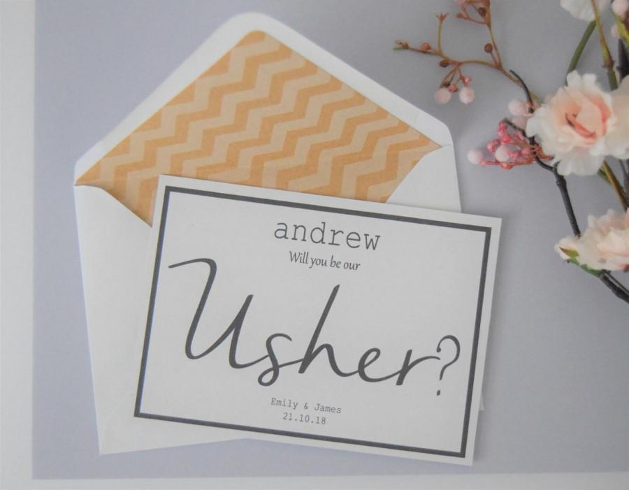 Mariage - Personalised Usher Card