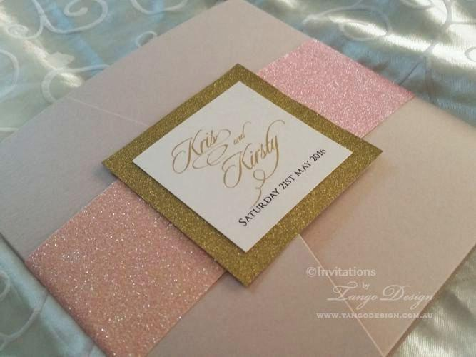Blush Gold Wedding Invitation Set