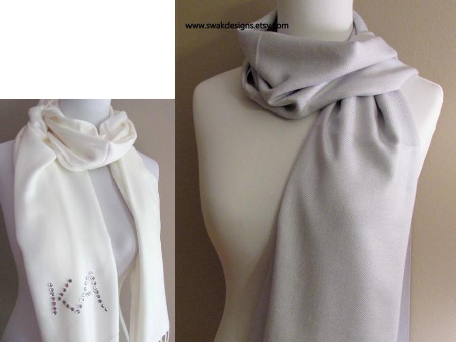 74161d7fdd817 Silver Pashmina Scarf Wedding Pashmina Bridesmaid Shawl Bridesmaid Gift  Idea Wedding Shawl Bridal Accessories or CHOOSE Your Color