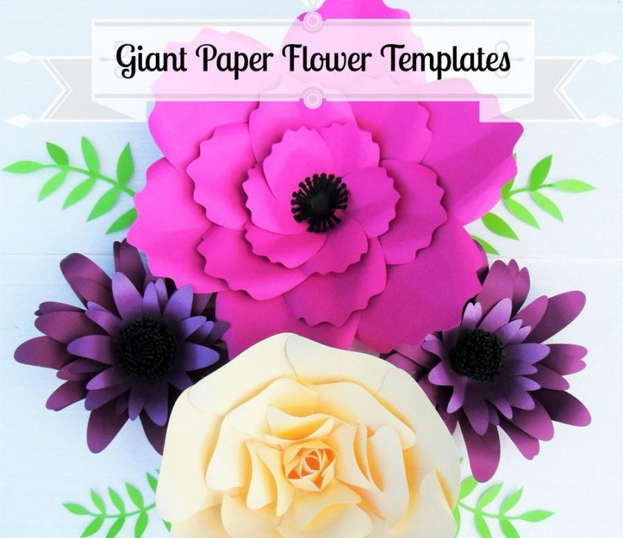 Giant flower templates giant paper flower wall svg flower cutting giant flower templates giant paper flower wall svg flower cutting files printable pdf templates mightylinksfo