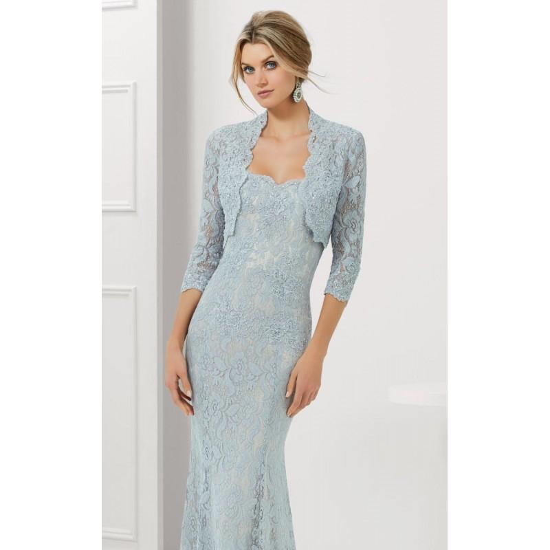 Свадьба - Silver/Nude Strapless Stretch Lace Gown by MGNY by Mori Lee - Color Your Classy Wardrobe