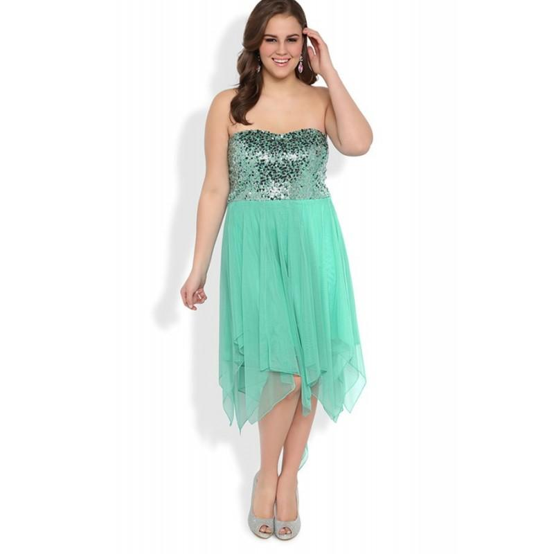 Свадьба - Wholesale Plus Size Strapless Knee Length Short Prom Dress A Line With Chiffon Skirt In Canada Cocktail Dresses Prices - dressosity.com