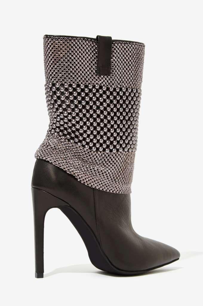زفاف - Jeffrey Campbell Fluidity Studded Leather Boot