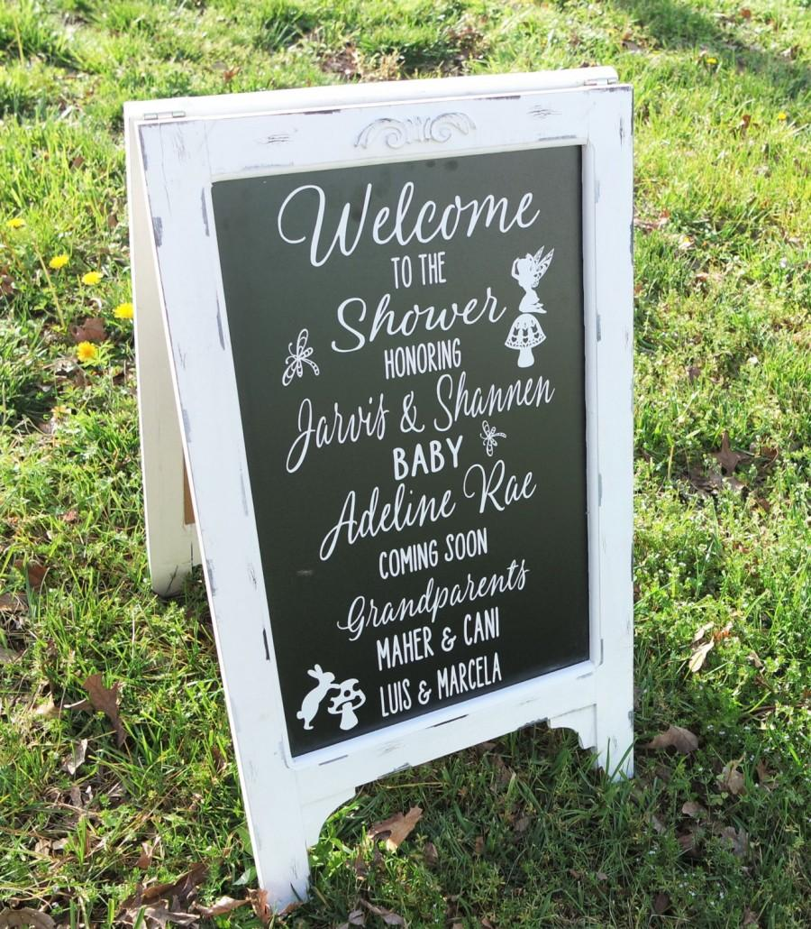 Shower Welcome Sign Baby Shower Sign Chalk Board Sign