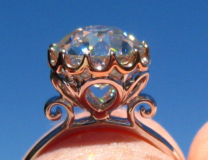 Свадьба - Magnolia Solitaire Gold Engagement Ring Mount