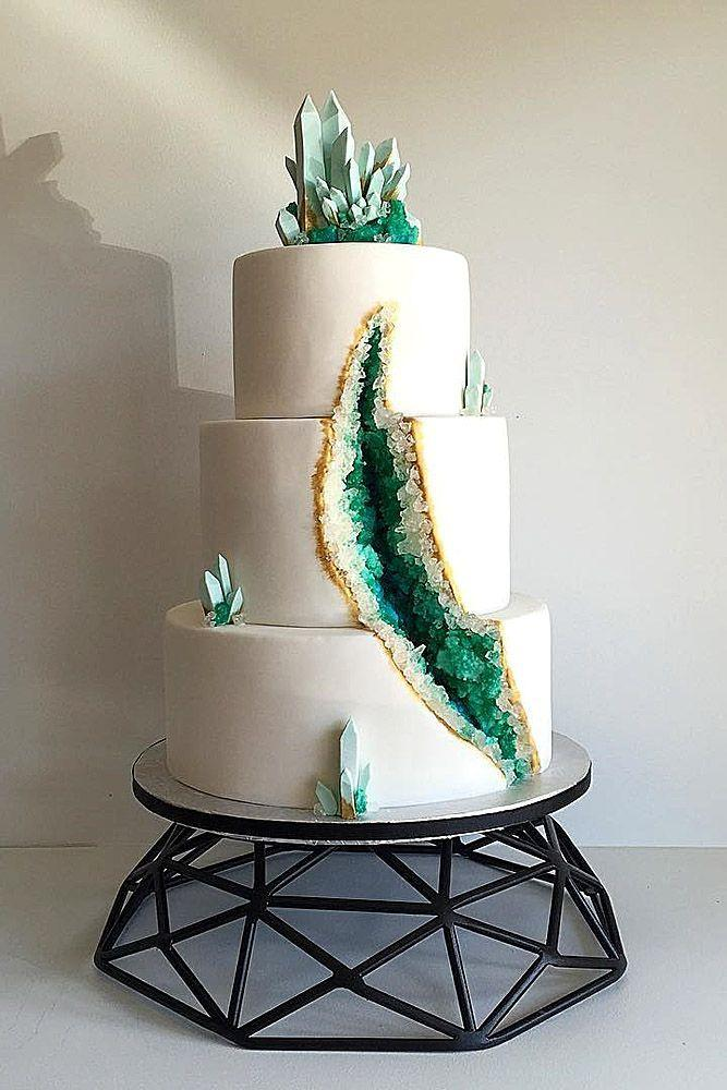 Düğün - Be In Trend! Geode Wedding Cakes For Stylish Event