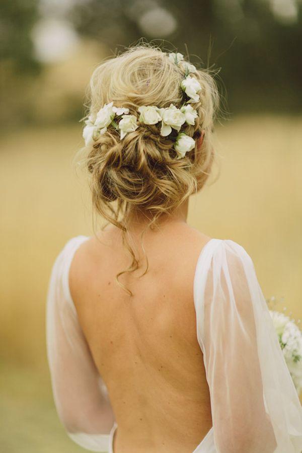 Hochzeit - Wedding Hairstyles: 15 Fab Ways To Wear Flowers In Your Hair
