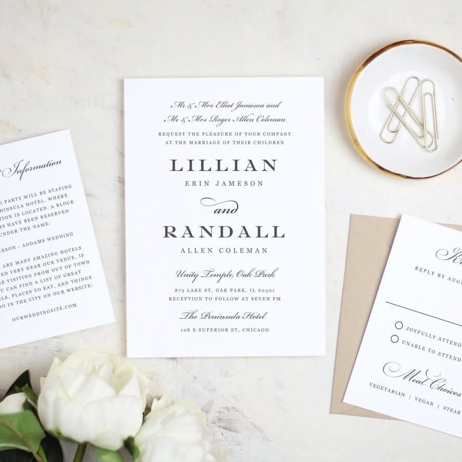 زفاف - Printable Wedding Invitation Template