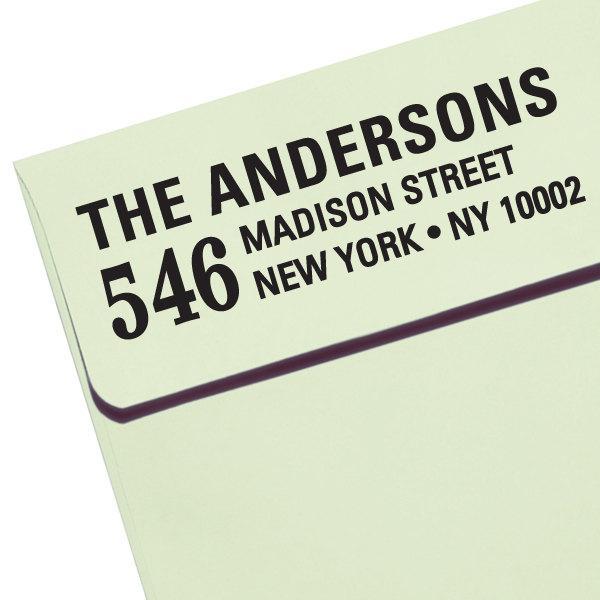 "Mariage - CUSTOM ADDRESS STAMP - new - Eco Friendly & self inking, for wedding, housewarming, etsy labels, return address stamp ""Name 58"""