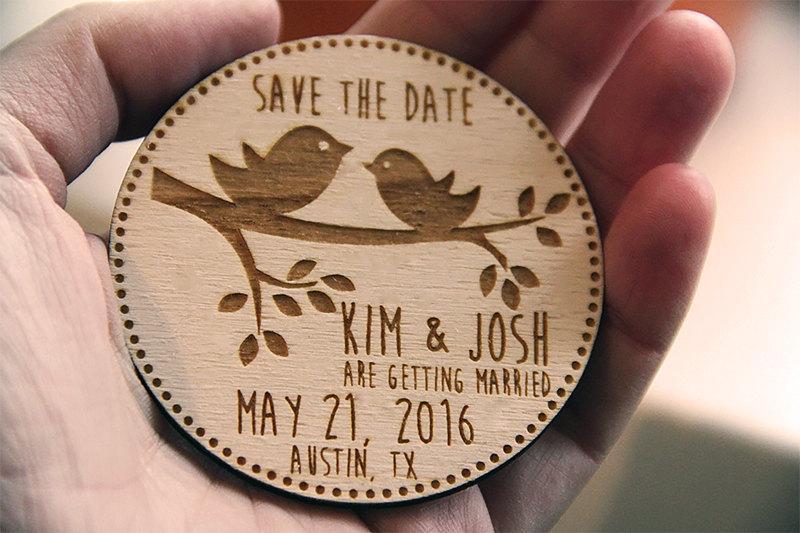 Hochzeit - Wooden Save the Date Magnets, Save the Date Magnets, Save the Dates, Wood Magnets, Wooden Save the dates, Wood save the date