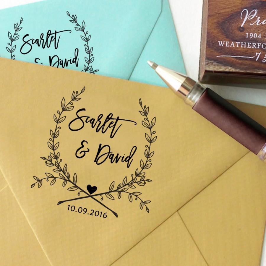 Self Inking Wedding Stamp Round