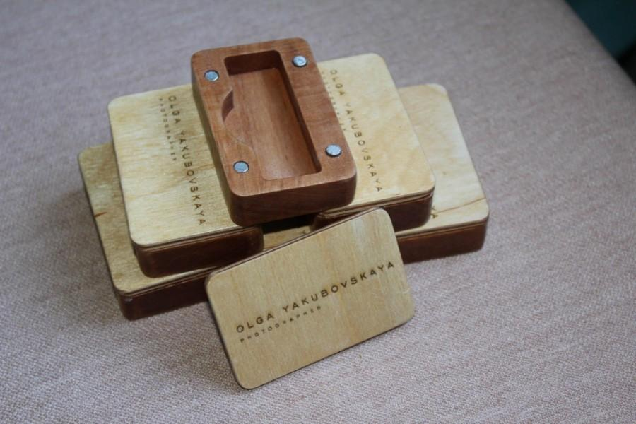 Mariage - USB box for wood and plywood - Blank or Custom Logo Engraved - Best Birthday Gift, Wedding Photos Packaging...