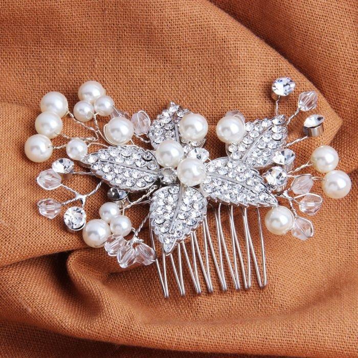 Свадьба - Leaf Floral Hair Combs For Wedding