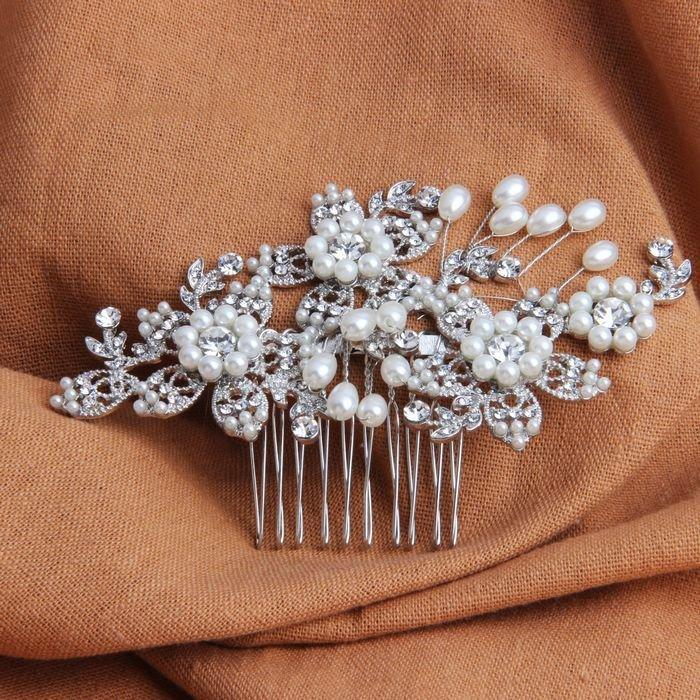 Wedding - Wedding Hair Jewelry Vintage Floral Hair Combs