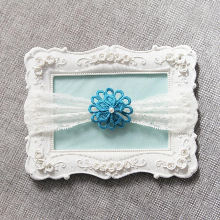 Свадьба - Wedding Garter Bridal Garter Lace Garter - Teal Garter Floral Garter - Toss Garter Prom Garter Something Blue Garter Boho Rustic Wedding