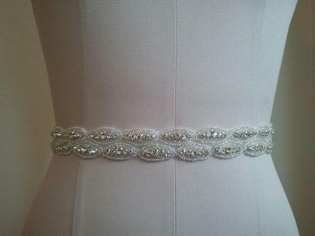 زفاف - Wedding Belt, Bridal Belt, Bridesmaid Belt, Bridesmaid Belt, Crystal Rhinestone - Style B1107