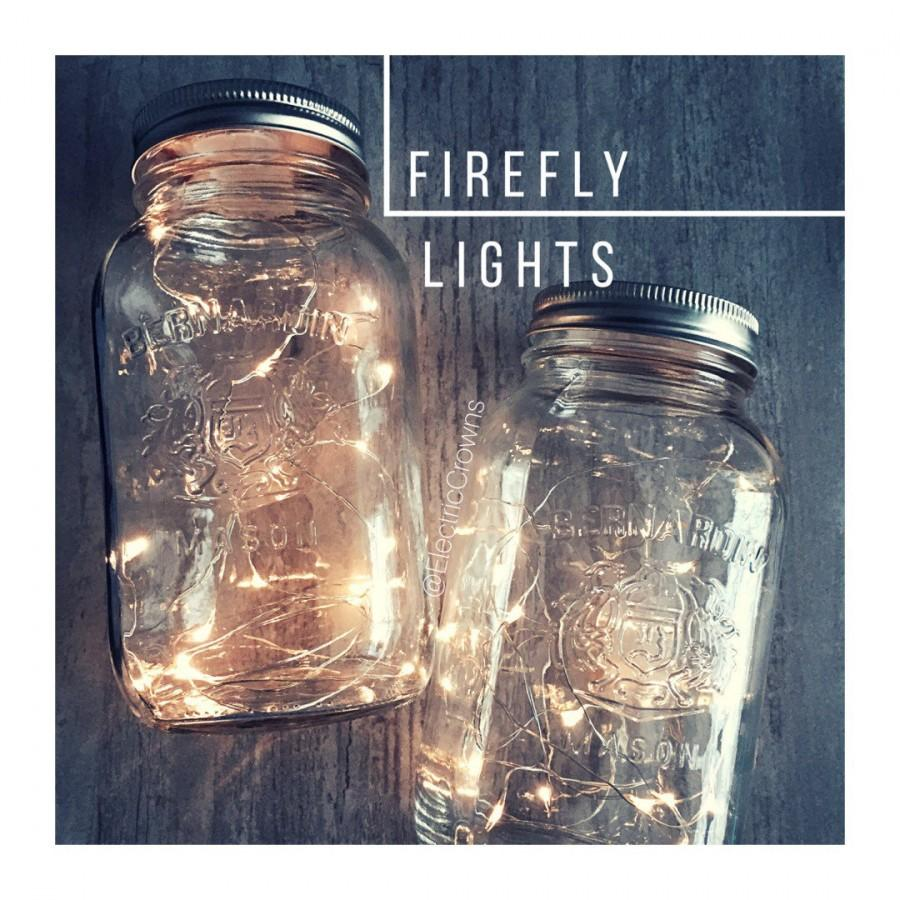 Fairy Lights For Mason Jars, DIY Lanterns, Centerpieces, Rustic ...