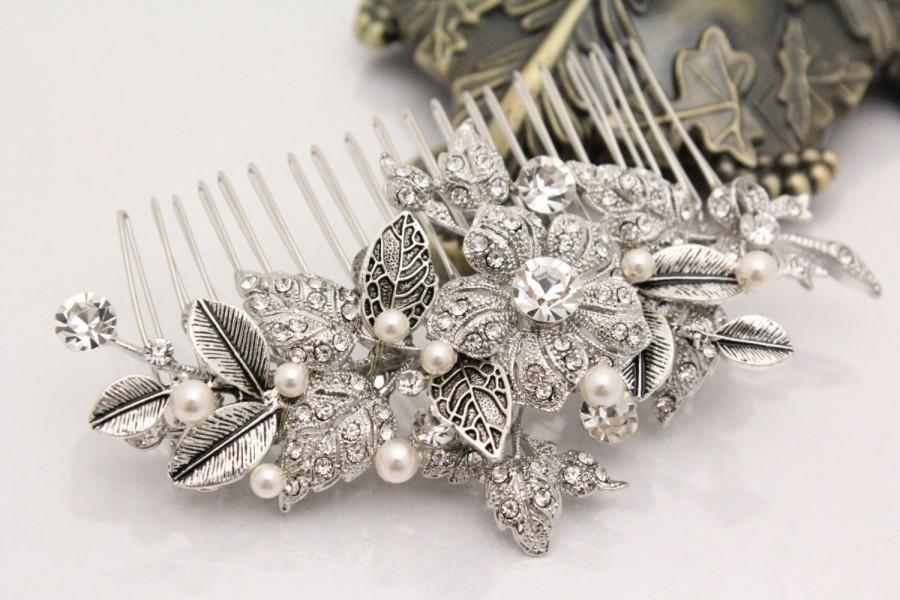 Свадьба - Vintage Style Bridal hair comb pearl Wedding hair comb headpiece Wedding hair accessory vintage Bridal hair jewelry Wedding headpiece pearl